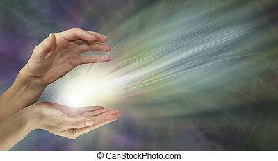 Healer sending healing energy