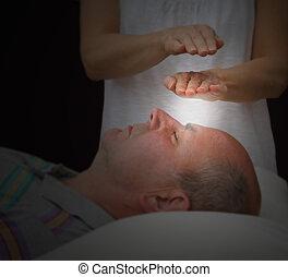 Healer sensing aura levels