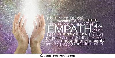 healers, 概念, 単語, 雲, empath