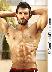Healhty man - Healthy muscular young man with nice abs