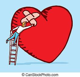 Healing and caring a broken heart