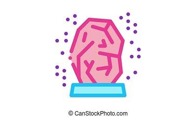 healing gem Icon Animation. color healing gem animated icon on white background