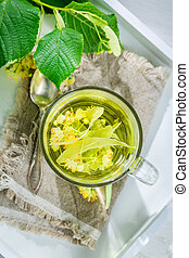 Healing tea with honey for flu
