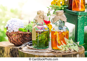 Healing tincture as homemade cure