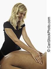 healing touch of a masseus's hands