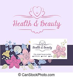 health and beauty logo, background