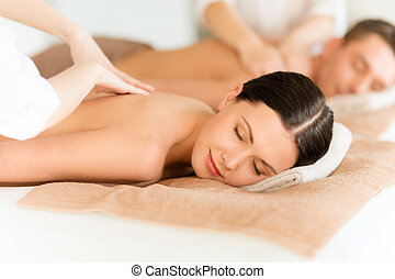 couple in spa - health and beauty, resort and relaxation ...