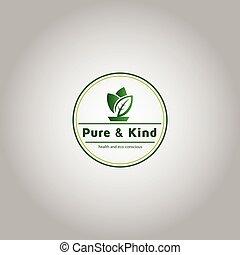 health and eco-conscious nature logo