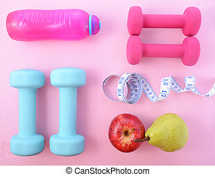 Health and Fitness Concept. - Health and fitness flat lay ...