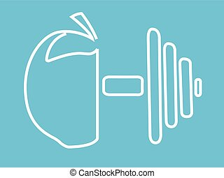 Health and fitness icon vector illustration isolated