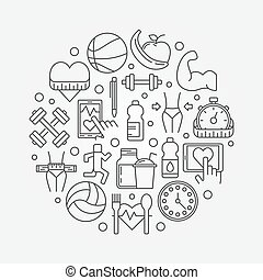 Health and fitness lifestyle illustration