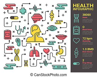 Health and medical line art