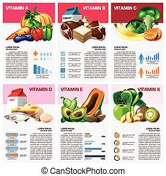 Health And Medical Vitamin Chart Diagram Infographic