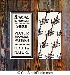 Health and Nature Collection. Banner template with herbal ...