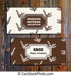 Health and Nature Collection. Banner templates with herbal ...