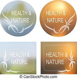 Health and Nature Vector background, Decorative Frame Set