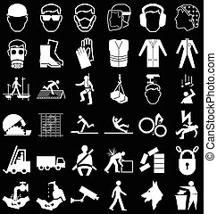 Health and Safety Graphics - Black and white construction ...