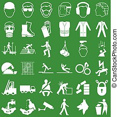 Health and Safety Graphics - Silhouette construction...