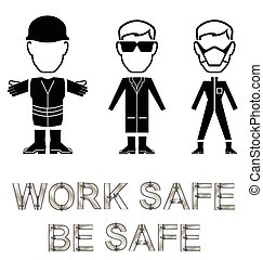 Health and Safety Message - Monochrome construction...