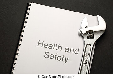 Health and safety register with spanner