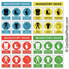 Health and safety sign collection