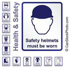 Health and safety Signs - Construction and manufacturing...