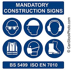 Health and Safety Signs - Mandatory construction ...