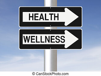 Health and Wellness - Modified one way street signs on...
