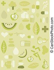 Health background, illustration