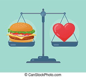 Health balance on the scale