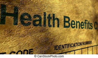 Health benefit claim form