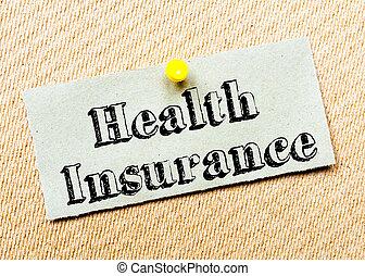 health biztosítás, üzenet