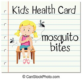 Health card with mosquito bites