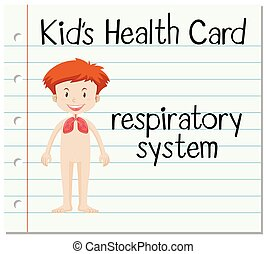 Health card with respiratory system