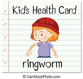 Health card with ringworm