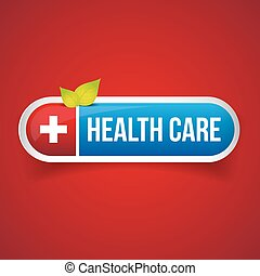 Health Care button vector
