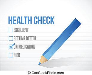 health care check mark list