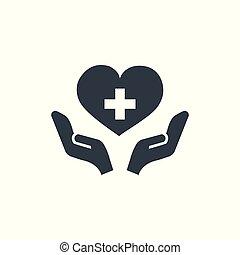 health care concept logotype template design. Business logo icon shape. health care simple illustration