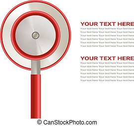 Health Care Concept With Stethoscope Isolated On A White Background. Realistic Vector Illustration.