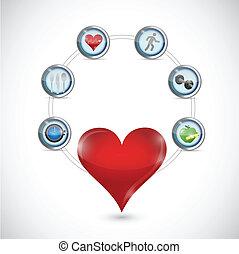 health care diagram illustration design