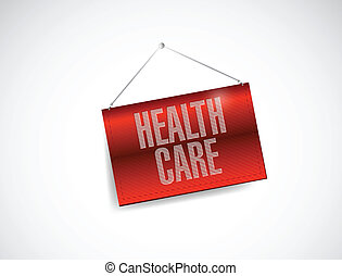 health care hanging sign illustration design