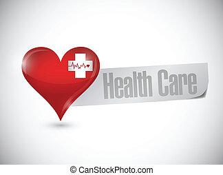 health care heart and lifeline illustration design over...