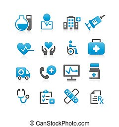 Health Care icon set - Flat Series