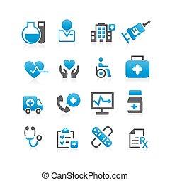 Health Care icon set - Flat Series