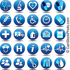 Health Care Icons matt - 25 Health care Icons covering...