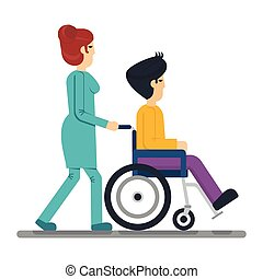 health care man in wheelchair