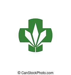 Health Care marijuana logo vector