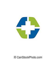 Health care medical logo design vector template