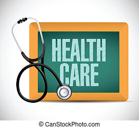 health care medical sign illustration design