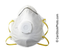 close up of protective mask on white background with clipping path